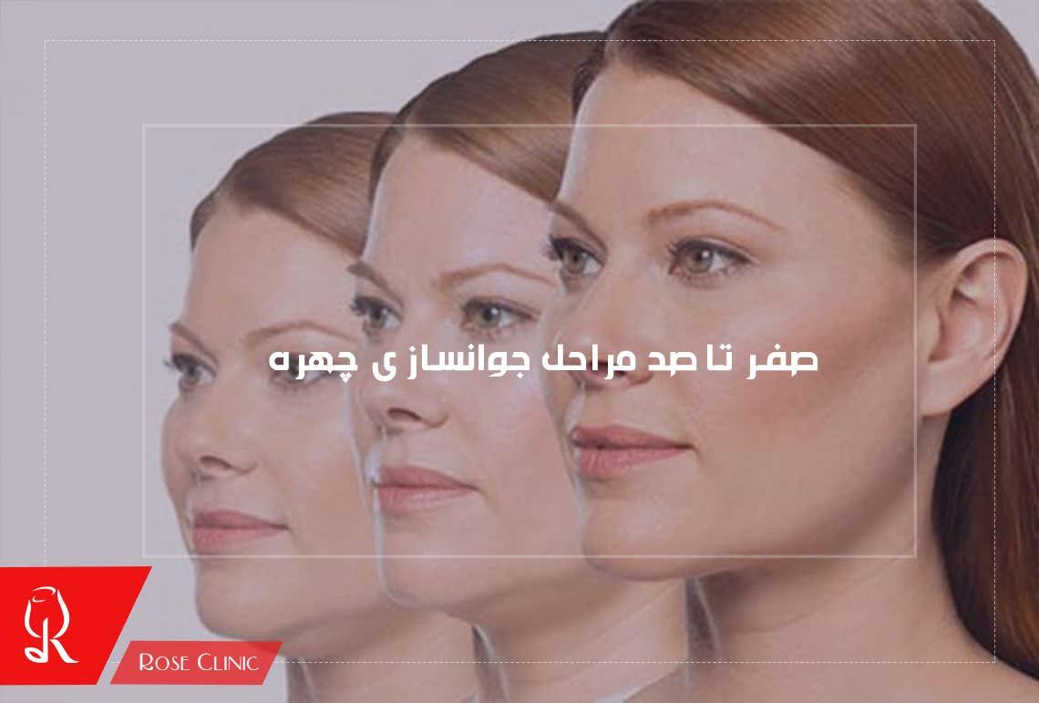 تصویر از صفر تا صد مراحل جوانسازی چهره